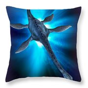 Loch Ness Monster Throw Pillow by Victor Habbick Visions and Photo Researchers
