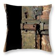 Lock Of Church. France Throw Pillow by Bernard Jaubert