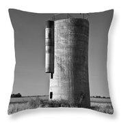Lonely Silo 6 Throw Pillow by Douglas Barnett