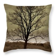 Lonely Tree Throw Pillow by Marty Koch