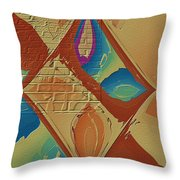 Look Behind The Brick Wall Throw Pillow by Deborah Benoit