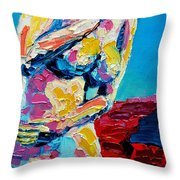 LOOKING BACK Throw Pillow by ANA MARIA EDULESCU