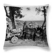 Looking Back Throw Pillow by John Malone