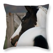 Looking Back Throw Pillow by Ralf Kaiser