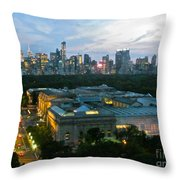 Looking South Nyc Throw Pillow by Randi Shenkman