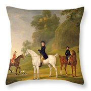 Lord Bulkeley And His Harriers Throw Pillow by Francis Sartorius