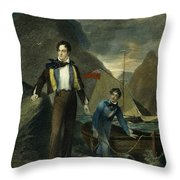 Lord Byron Throw Pillow by Granger