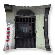 Lost In Urban America - Laundromat - Tenderloin District - San Francisco California - 5d19347 Throw Pillow by Wingsdomain Art and Photography