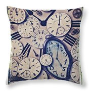 Lost Time Throw Pillow by Garry Gay