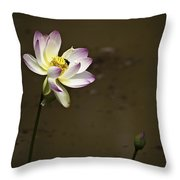 Lotus And Friend Throw Pillow by Rob Travis