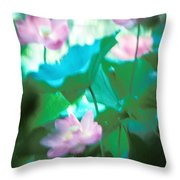 Lotus--ethereal Impressions II 20a1 Throw Pillow by Gerry Gantt
