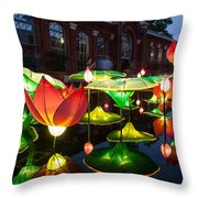 Lotus Flower Throw Pillow by Semmick Photo