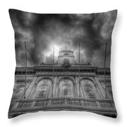 Loughborough Town Hall Throw Pillow by Yhun Suarez