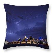 Louisville Storm - D001917b Throw Pillow by Daniel Dempster