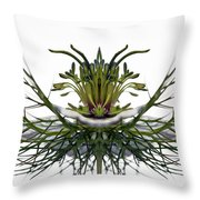 Love In A Mist Throw Pillow by Jean Noren