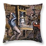 Lovejoys Printing Press Throw Pillow by Granger