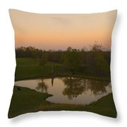 Loving The Sunset Throw Pillow by Cris Hayes