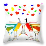 Loving You My Darling II Throw Pillow by Paul Ge