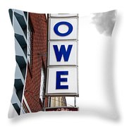 Lowe Drug Store Sign Color Throw Pillow by Andee Design