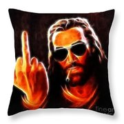 Lucifer This Is For You No2 Throw Pillow by Pamela Johnson