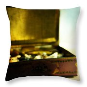 Luck Be A Lady Throw Pillow by Rebecca Sherman