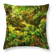 Lush Escape Throw Pillow by Maria Eames