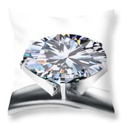 Luxury Wedding Ring  Throw Pillow by Setsiri Silapasuwanchai