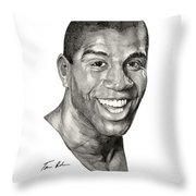 Magic Throw Pillow by Tamir Barkan