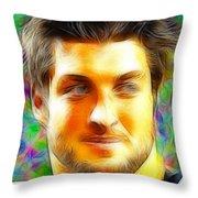Magical Tim Tebow Face Throw Pillow by Paul Van Scott