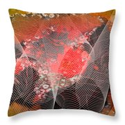 Magnification 4 Throw Pillow by Angelina Vick