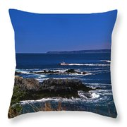 MAINE AT WEST QUODDY Throw Pillow by Skip Willits