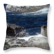 Maine Coast Surf Throw Pillow by Darleen Stry