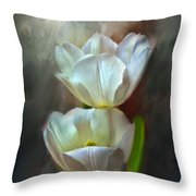 Majestic Tulips Throw Pillow by Bonnie Willis