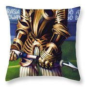 Major League Gladiator Throw Pillow by Patrick Anthony Pierson