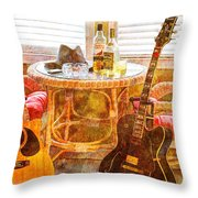 Making Music 003 Throw Pillow by Barry Jones