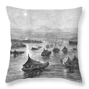 Malaya: Perak River, 1876 Throw Pillow by Granger