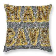 Man Cave Coin Mosaic Throw Pillow by Paul Van Scott