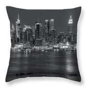Manhattan Twilight Vii Throw Pillow by Clarence Holmes