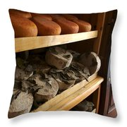 Many Varieties Of Pecorino Cheese Line Throw Pillow by Heather Perry