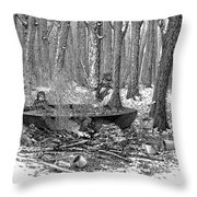 Maple Syrup, 1877 Throw Pillow by Granger
