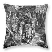 MARC ANTONY & CLEOPATRA Throw Pillow by Granger