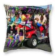 Mardi Gras Clowning Throw Pillow by Steve Harrington
