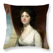 Marianne Ashley Walker Throw Pillow by Gilbert Stuart