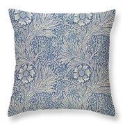 Marigold Wallpaper Design Throw Pillow by William Morris