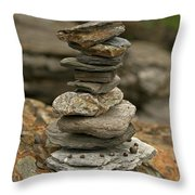 Mark The Trail Throw Pillow by Paul Mangold