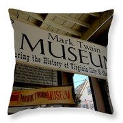 Mark Twian Museum Virginina City Nv Throw Pillow by LeeAnn McLaneGoetz McLaneGoetzStudioLLCcom