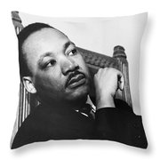 Martin Luther King, Jr Throw Pillow by Photo Researchers
