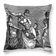 Martyrdom: Saint Julian Throw Pillow by Granger