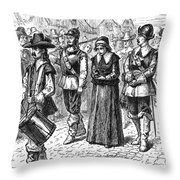 MARY DYER, d.1660 Throw Pillow by Granger
