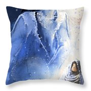 Mary Magdalene Throw Pillow by Miki De Goodaboom